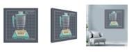 "Trademark Global Larry Hunter 'Galaxy Blender Aqua' Canvas Art - 18"" x 18"""
