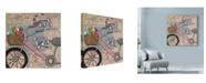 "Trademark Global Let Your Art Soar 'Bike Growing Old' Canvas Art - 24"" x 24"""