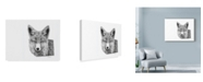 "Trademark Global Let Your Art Soar 'Fox Line Art' Canvas Art - 24"" x 18"""