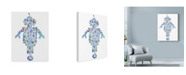 """Trademark Global Louise Tate 'Robot Collage' Canvas Art - 18"""" x 24"""""""