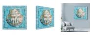 """Trademark Global Marietta Cohen Art And Design 'Shell Scallop 1' Canvas Art - 18"""" x 18"""""""