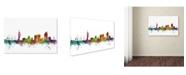 "Trademark Global Michael Tompsett 'Portsmouth England Skyline II' Canvas Art - 19"" x 12"""