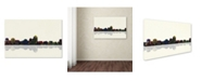 "Trademark Global Marlene Watson 'Albuquerque New Mexico Skyline' Canvas Art - 16"" x 24"""