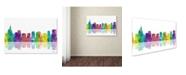 "Trademark Global Marlene Watson 'Orlando Florida Skyline' Canvas Art - 16"" x 24"""