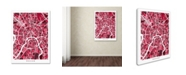 "Trademark Global Michael Tompsett 'Moscow City Street Map IV' Canvas Art - 18"" x 24"""