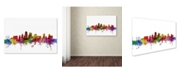 "Trademark Global Michael Tompsett 'Kansas City Skyline' Canvas Art - 16"" x 24"""