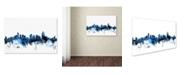 "Trademark Global Michael Tompsett 'Cincinnati Ohio Skyline II' Canvas Art - 16"" x 24"""