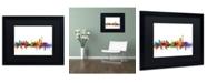 """Trademark Global Michael Tompsett 'Johannesburg South Africa Skyline' Matted Framed Art - 16"""" x 20"""""""