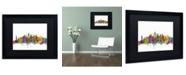 """Trademark Global Michael Tompsett 'New York City Skyline' Matted Framed Art - 16"""" x 20"""""""