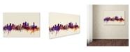 "Trademark Global Michael Tompsett 'Brisbane Australia Skyline' Canvas Art - 30"" x 47"""
