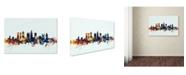 "Trademark Global Michael Tompsett 'Atlanta Georgia Skyline Blue' Canvas Art - 22"" x 32"""