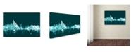 "Trademark Global Michael Tompsett 'New York Skyline Teal' Canvas Art - 22"" x 32"""