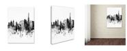 "Trademark Global Michael Tompsett 'London Skyline Tall B&W' Canvas Art - 35"" x 47"""