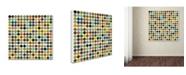 "Trademark Global Michelle Calkins 'Rustic Rounds 125' Canvas Art - 24"" x 24"""