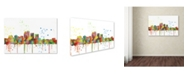 "Trademark Global Marlene Watson 'Louisville Kentucky Skyline Mclr-1' Canvas Art - 22"" x 32"""