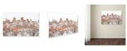 "Trademark Global Marlene Watson 'Anchorage Alaska Skyline Brick' Canvas Art - 30"" x 47"""