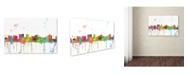 "Trademark Global Marlene Watson 'Topeka Kansas Skyline Mclr-1' Canvas Art - 22"" x 32"""