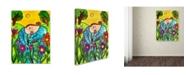 "Trademark Global Wyanne 'Big Diva In The Garden' Canvas Art - 24"" x 32"""