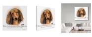 "Trademark Global Howard Robinson 'Red Longhaired Dachshund' Canvas Art - 35"" x 35"""