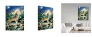 "Trademark Global Howard Robinson 'Howl At The Moon' Canvas Art - 35"" x 47"""