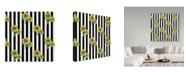 "Trademark Global Jessmessin 'Sunflowers Black' Canvas Art - 35"" x 35"""