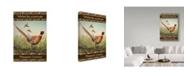 "Trademark Global Jean Plout 'Pheasant' Canvas Art - 22"" x 32"""