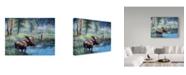 "Trademark Global Jeff Tift 'Moose Painting' Canvas Art - 35"" x 47"""
