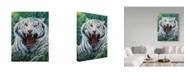"Trademark Global Jeff Tift 'White Tiger Roar' Canvas Art - 24"" x 32"""