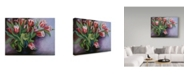 "Trademark Global Joanne Porter 'White Tipped Red Tulips' Canvas Art - 24"" x 32"""