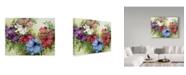 "Trademark Global Joanne Porter 'A Rainbow Of Anemones' Canvas Art - 35"" x 47"""