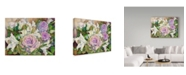 """Trademark Global Joanne Porter 'Lilies With Ornamental Cabbage' Canvas Art - 35"""" x 47"""""""