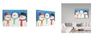 "Trademark Global Melinda Hipsher 'Three Snowmen Sing' Canvas Art - 22"" x 32"""