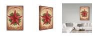 "Trademark Global Melinda Hipsher 'Welcome Barn Star With Berries' Canvas Art - 22"" x 32"""
