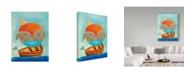 "Trademark Global Nicole Dietz 'Owl Captain' Canvas Art - 24"" x 32"""