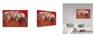 """Trademark Global Mark Adlington 'The White Bull' Canvas Art - 22"""" x 32"""""""