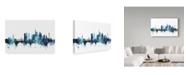 "Trademark Global Michael Tompsett 'Munich Germany Blue Teal Skyline' Canvas Art - 32"" x 22"""