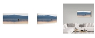 "Trademark Global Jason Matias 'Bird On A Lake 2' Canvas Art - 47"" x 20"""
