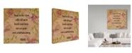 "Trademark Global Jean Plout 'Floral Bible Verse 3' Canvas Art - 35"" x 35"""