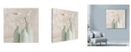 "Trademark Global Tom Quartermaine 'Blossom With 3 Vases' Canvas Art - 35"" x 35"""