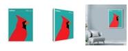 "Trademark Global Print Collection - Artist 'Indiana Bird Cardinal' Canvas Art - 24"" x 32"""