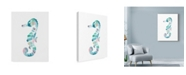 "Trademark Global Nicky Kumar 'Sea Horse Watercolor' Canvas Art - 35"" x 47"""