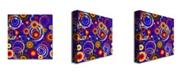 "Trademark Global 'Raindrops on Blue' Canvas Art - 24"" x 24"""