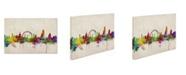 "Trademark Global Michael Tompsett 'London Skyline' Canvas Art - 32"" x 22"""