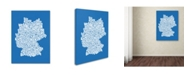 "Trademark Global Michael Tompsett 'SUMMER-Germany Regions Map' Canvas Art - 24"" x 16"""