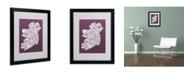 """Trademark Global Michael Tompsett 'MULBERRY-Ireland Text Map' Matted Framed Art - 20"""" x 16"""""""