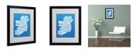 """Trademark Global Michael Tompsett 'SUMMER-Ireland Text Map' Matted Framed Art - 20"""" x 16"""""""