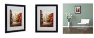 "Trademark Global Rio 'Sunday Morning in Bari Italy' Matted Framed Art - 20"" x 16"""