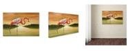 "Trademark Global Victor Giton 'Pink Flamingo' Canvas Art - 24"" x 16"""
