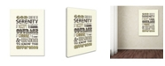"Trademark Global Megan Romo 'Serenity Prayer I' Canvas Art - 32"" x 26"""