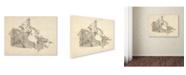 "Trademark Global Michael Tompsett 'Old Sheet Music Map of Canada' Canvas Art - 47"" x 35"""